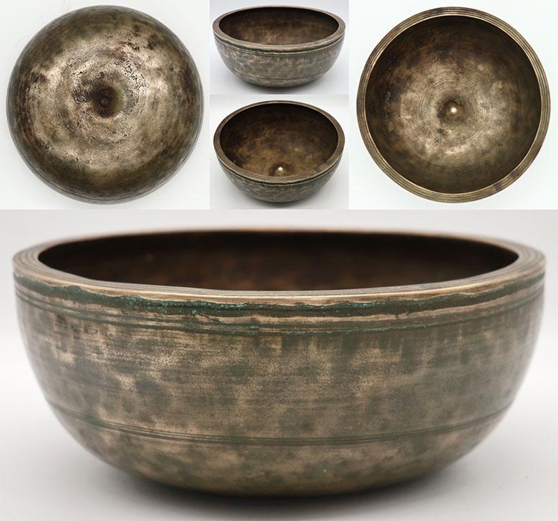 Rare 18th Century Lingam Singing Bowl – E4/F4 (339-342Hz)