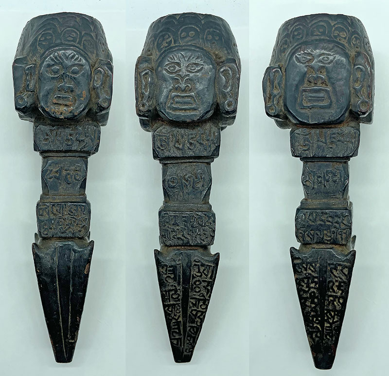 Astonishing Engraved Tibetan Antique Jhakri/Shaman Phurba with OM