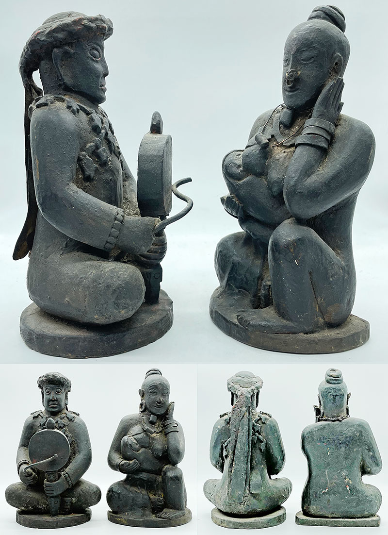 Superb Rare 18th/19th Century Carving of a Shaman Couple – Exceptional Condition
