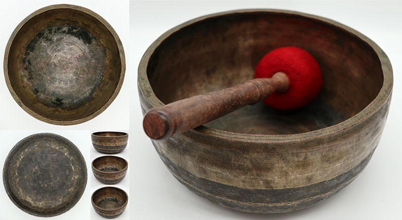 Heavy Thick-Walled Antique Thadobati Singing Bowl – D4