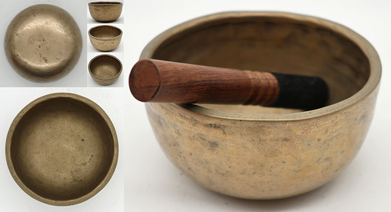 Small Extra-Thick Antique Thadobati Singing Bowl – Eb5 (637Hz)