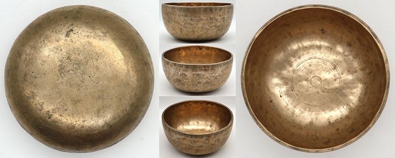 19th Century Golden Thadobati Singing Bowl – Bb3 & F5