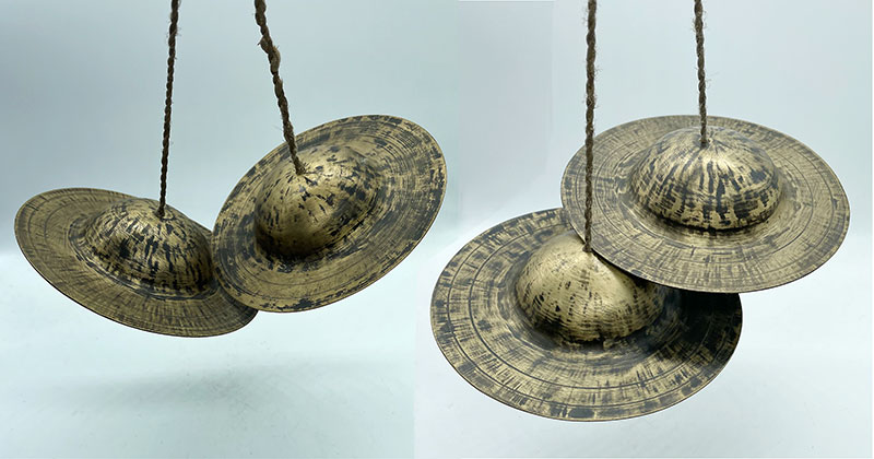 3 Pairs (Sets) of Traditional Tibetan/Nepalese Jhyamta or Jhyali Cymbals