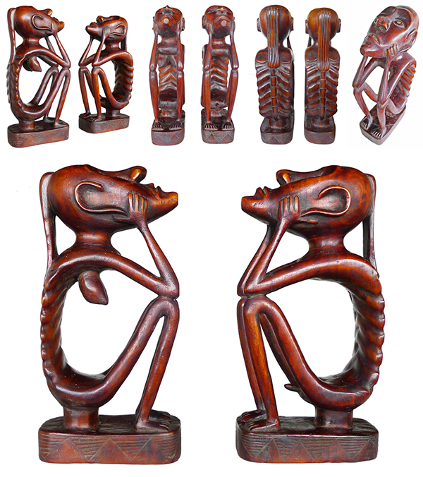 Batak Seated Guardian or Ancestor Figures - Offers Invited