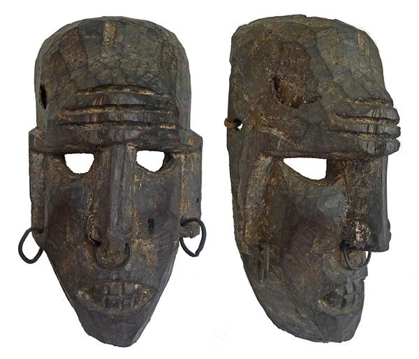 Antique Himalayan Female Shaman Mask