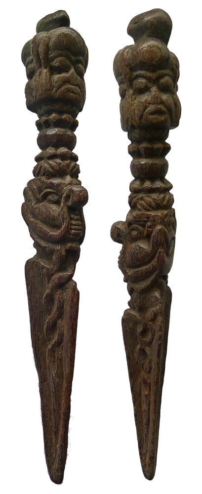 Antique Tibetan Wooden Phurba (26cm/10inches)