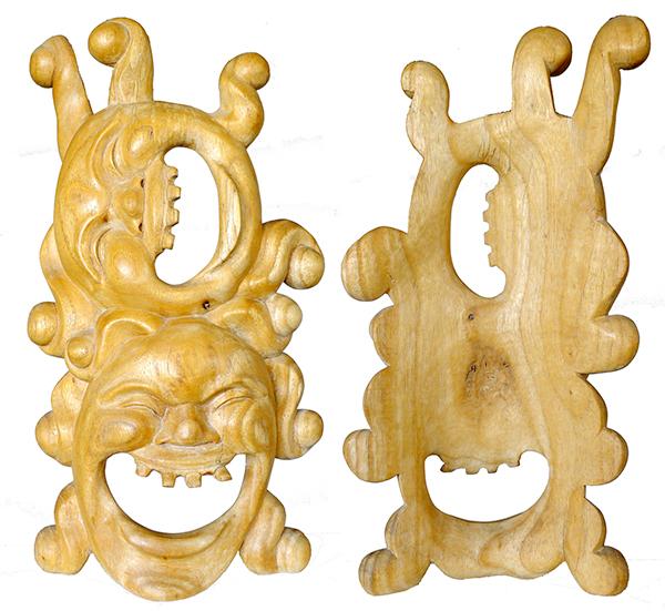 Balinese 2-Face Leyak Carving