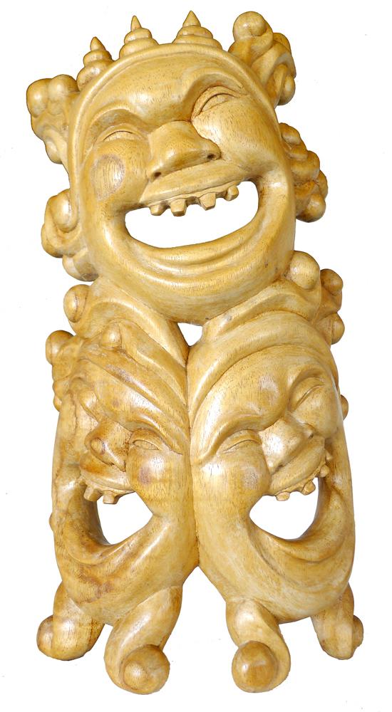 Balinese 3-Face Leyak Carving