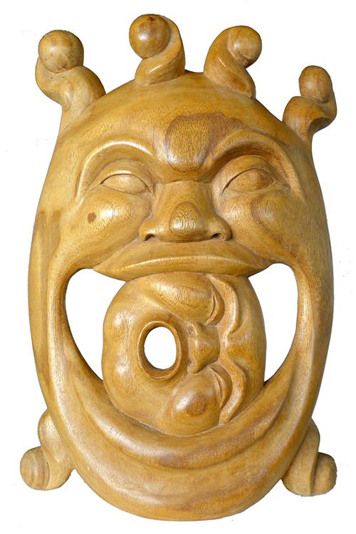 Balinese Kala Rahu Leyak Carving
