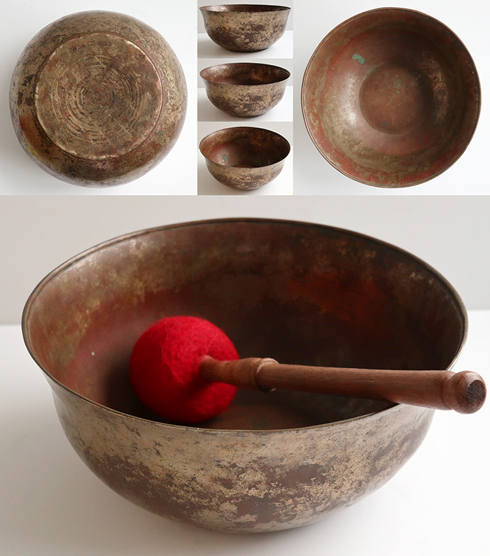 Unique Antique Tibetan Bell-Shaped Singing Bowl – A Rare Find & Exceptionally Beautiful