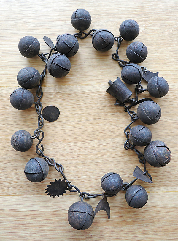 Rare Antique Shaman Protective Bell Chain – Complete with Magical Symbols