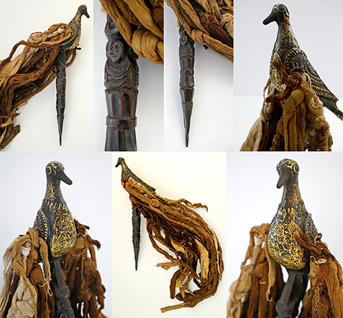 Spectacular and Unique Large Antique Himalayan Healing Bird Phurba