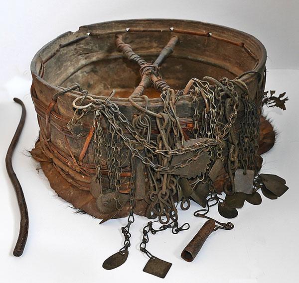 Rare Authentic Chepang Shaman's Hand Drum