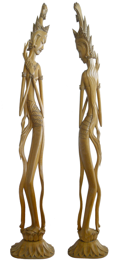 Fertility Goddess Dewi Sri - Root Carving (Circa 1970)