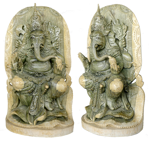 Ganesh Relief Carving