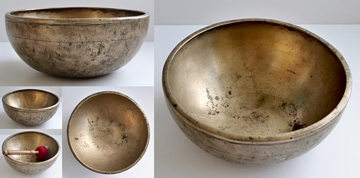 """Premium Quality 9 ½ """" Antique Jambati Singing Bowl – Fabulous Long F3 Sustain"""