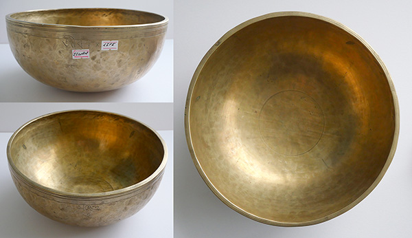 Handsome Large 20th Century Jambati Singing Bowl – Concert Pitch - 3 Inscriptions