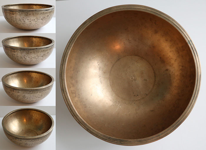 "Exquisite Large 11 ¾ "" 20th Century Jambati Singing Bowl – Wonderful G3 (201Hz)"