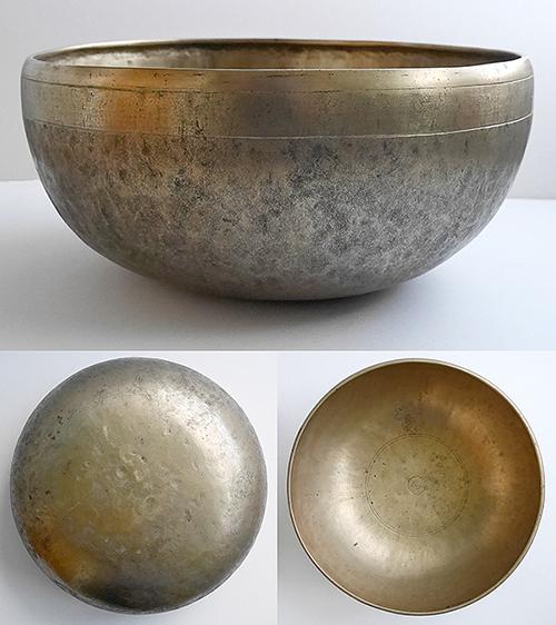 Massive 13-Inch Antique Jambati Singing Bowl – Low Eb2 OM Voice
