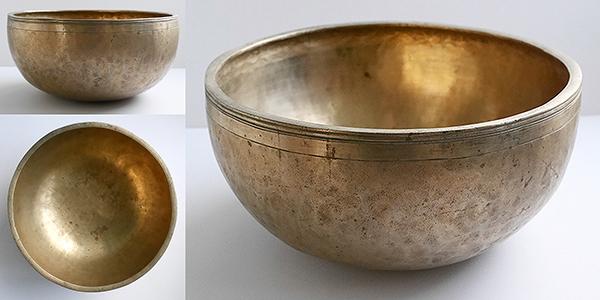 Heavy Large Antique Jambati Singing Bowl – Beautiful Eb3 (157Hz)