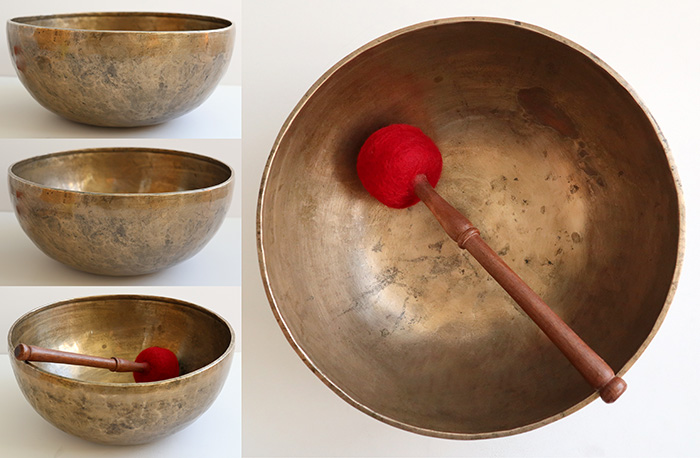 "A Glorious 12"" Antique Jambati Singing Bowl – Wonderful F2 with Longest Sustain Ever!"