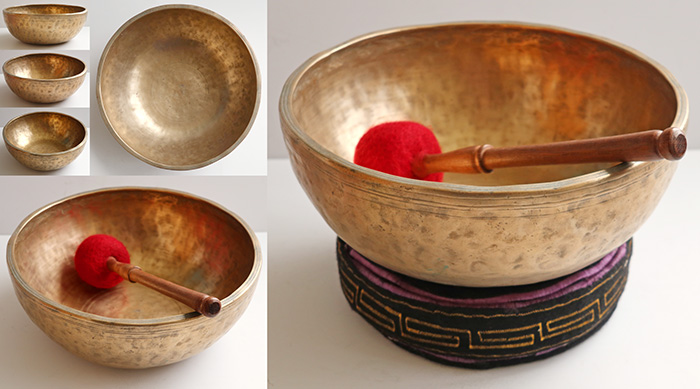 "Heavy Large 11 ¾ ""Antique Jambati Singing Bowl – Eb3 (153Hz)"