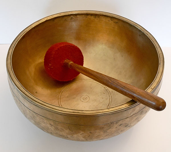 Wonderful 12-inch Antique Jambati Singing Bowl – F3 (171Hz)