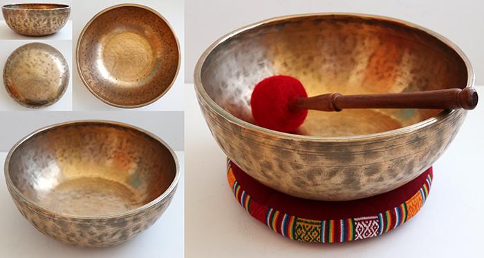 Heavy 12-inch Antique Jambati Bowl – Wonderful C#3 & G#4 –Long Sustains & Pulse
