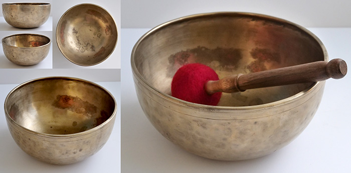 "Premium Quality 8 ½ "" Antique Jambati Singing Bowl – 2 Superb Voices"