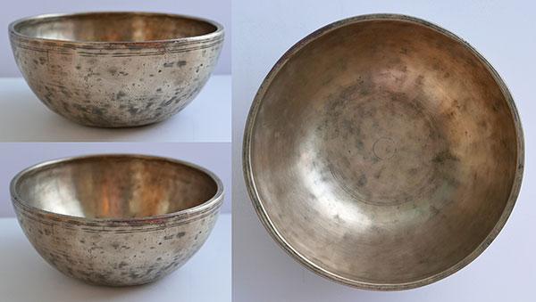 "Rare 7 ½"" Antique Jambati Singing Bowl – Perfect Pitch A#3/Bb3 (233Hz)"
