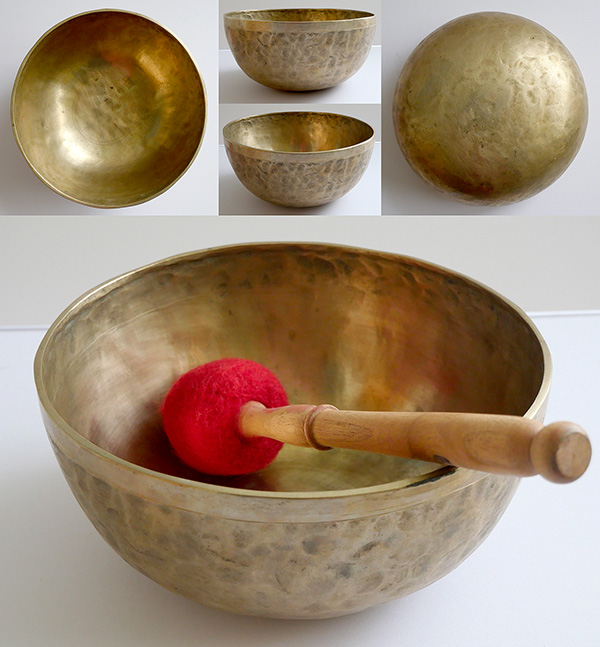 "Small 8"" Jambati Singing Bowl – 2 Concert Pitch Voices!"