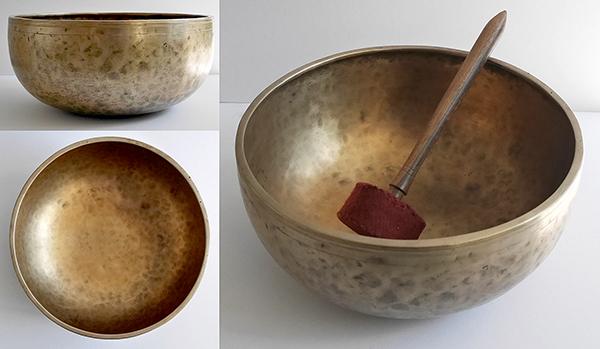 Large 11 ¾ inch Antique Jambati Singing Bowl – Stunning C3