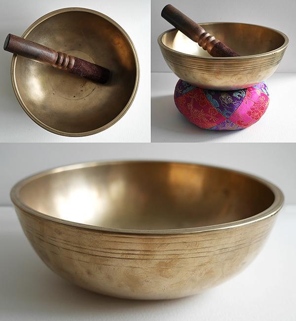 Large Antique Manipuri Singing Bowl – C4 (256Hz)