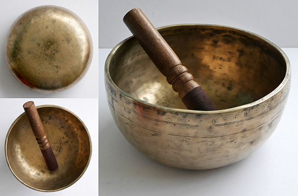 Large Antique Thadobati Singing Bowl – C4 Note