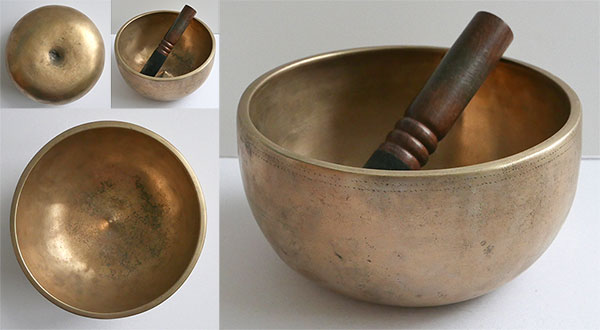 Rare Antique High-Wall Lingam Singing Bowl – Close Concert Pitch Eb4 (310Hz)