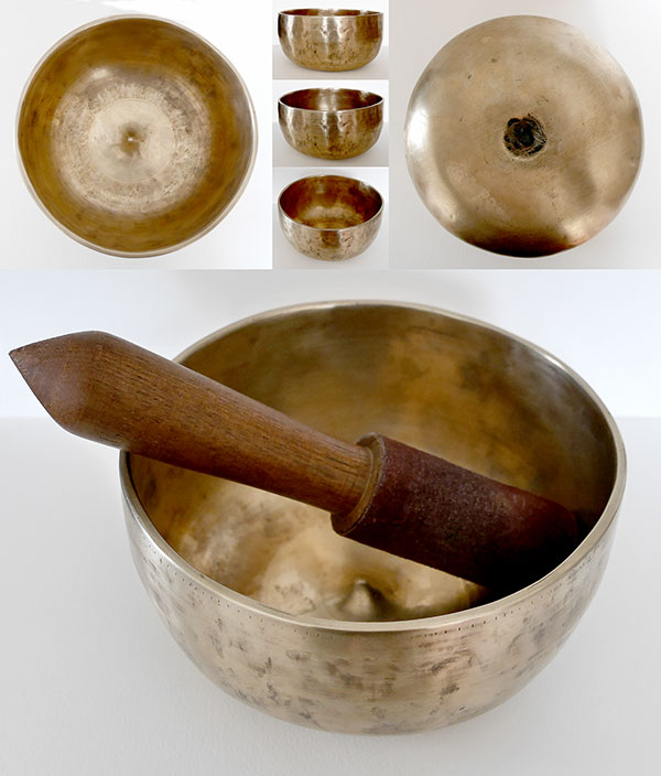 High-Wall Antique Lingam Singing Bowl – A3 Concert Pitch (220Hz)