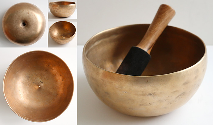 Rare Antique Lingam Singing Bowl – 2 Extraordinary Perfect Pitch Voices