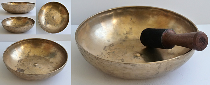 Large Rare Antique Shaman Divination Lingam Singing Bowl – CP B2, Talking & Fountain