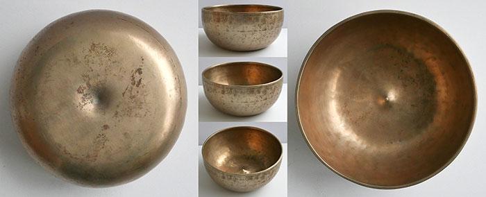 Rare Large Antique Lingam Singing Bowl – F3 (179Hz) & Double Inscription