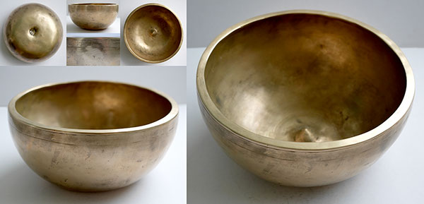 Superb Large 8½-inch Antique Lingam Singing Bowl – D4 (289-291Hz)