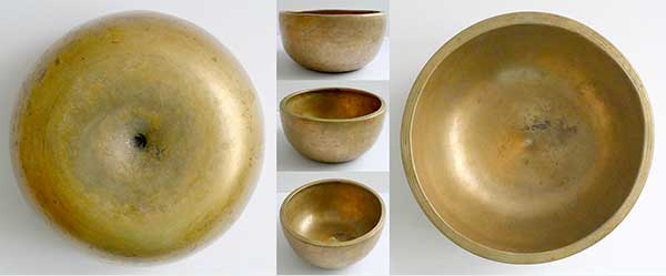 Superb Extra-Thick Large Antique Lingam Singing Bowl – G#4 (405Hz)