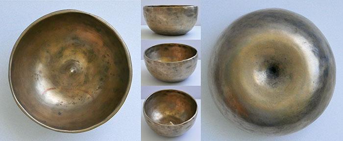 Small Antique Lingam Singing Bowl – G4 (394Hz)