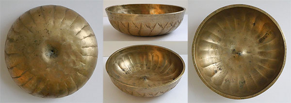 Extremely Rare Small Antique Lotus Lingam Singing Bowl