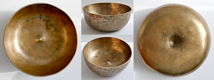 Rare Older Antique Lingam Singing Bowl - Lovely A4 Voice