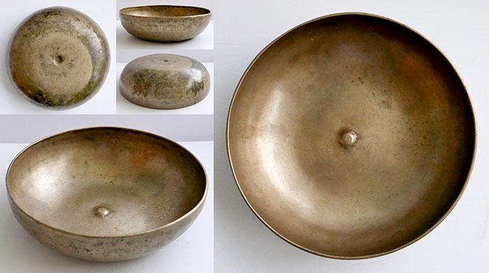 Rare Antique Shaman Lingam Divination and Singing Bowl – B2 & F#4 Button Lingam