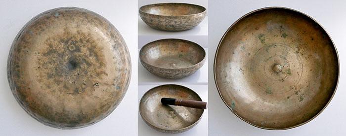 Rare Antique Shaman Lingam Singing Bowl – E3 (163Hz)