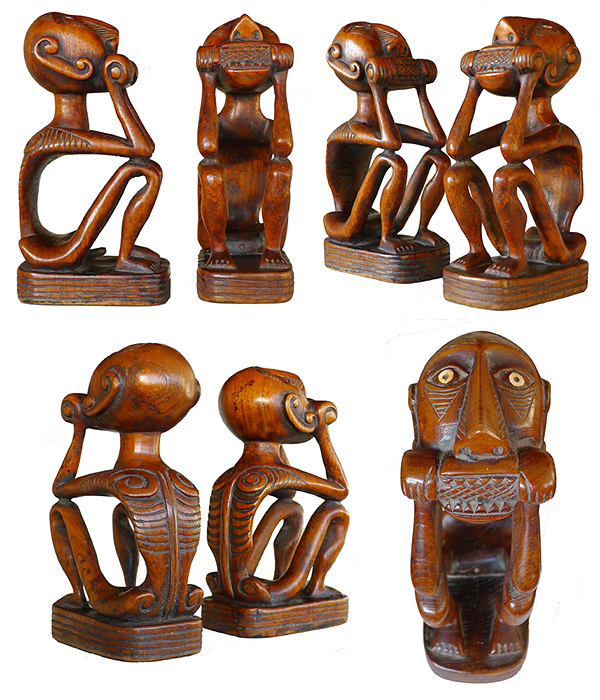 Male and Female Corn-Eating Guardian Figures - Offers Invited