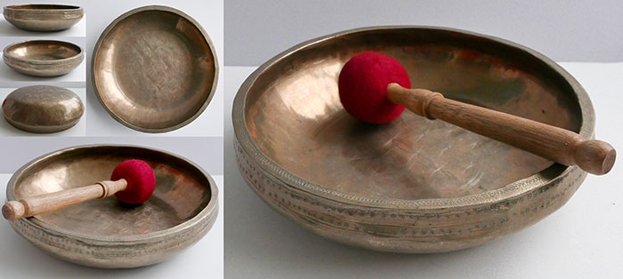 Extraordinary Large Hand-Forged & Inscribed Ceremonial Mandala Bowl – Simply Unique!
