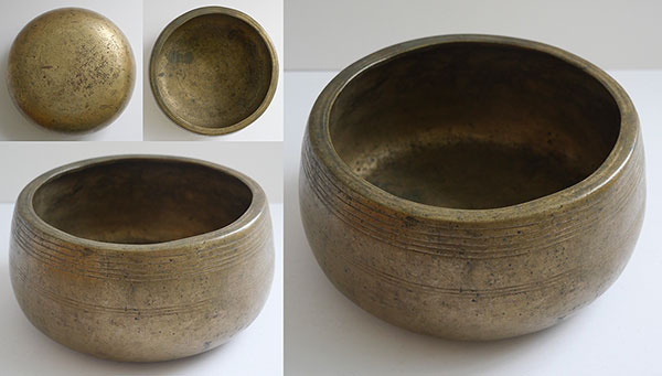Rare Antique Mani Singing Bowl – D5 (595-600Hz)
