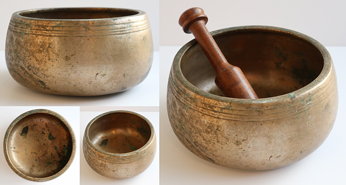 Rare Antique Mani Singing Bowl – B4 (498Hz)